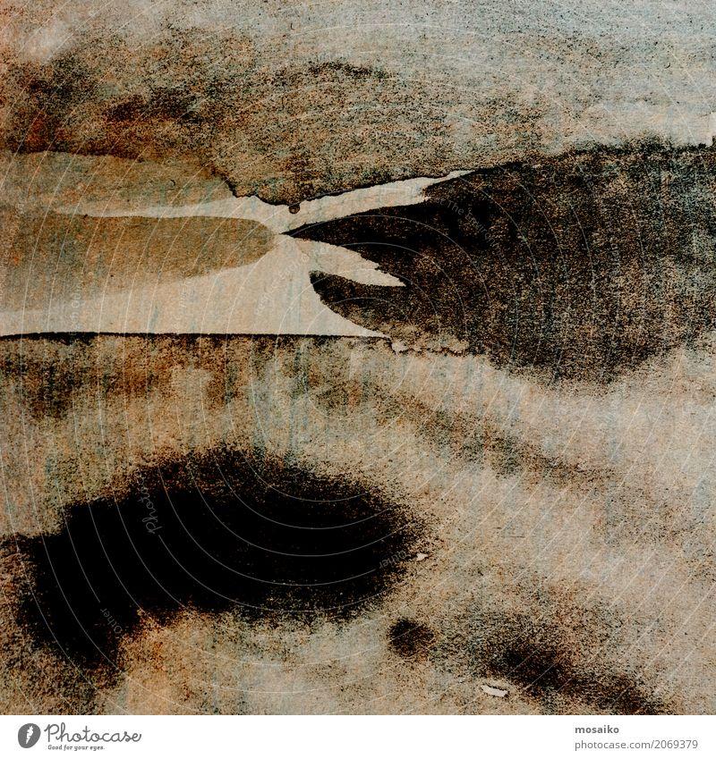 schwarze Tinte Stil Design Kunst Mauer Wand ästhetisch authentisch außergewöhnlich retro braun träumen Traurigkeit Tod Hintergrundbild Grunge Papier