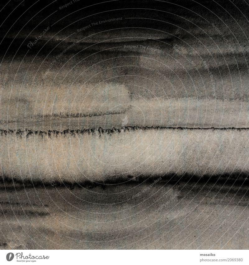 schwarze Tinte Stil Design Kunst Mauer Wand ästhetisch authentisch außergewöhnlich retro braun Traurigkeit Sorge Trauer Tod Aquarell Gemälde Tusche