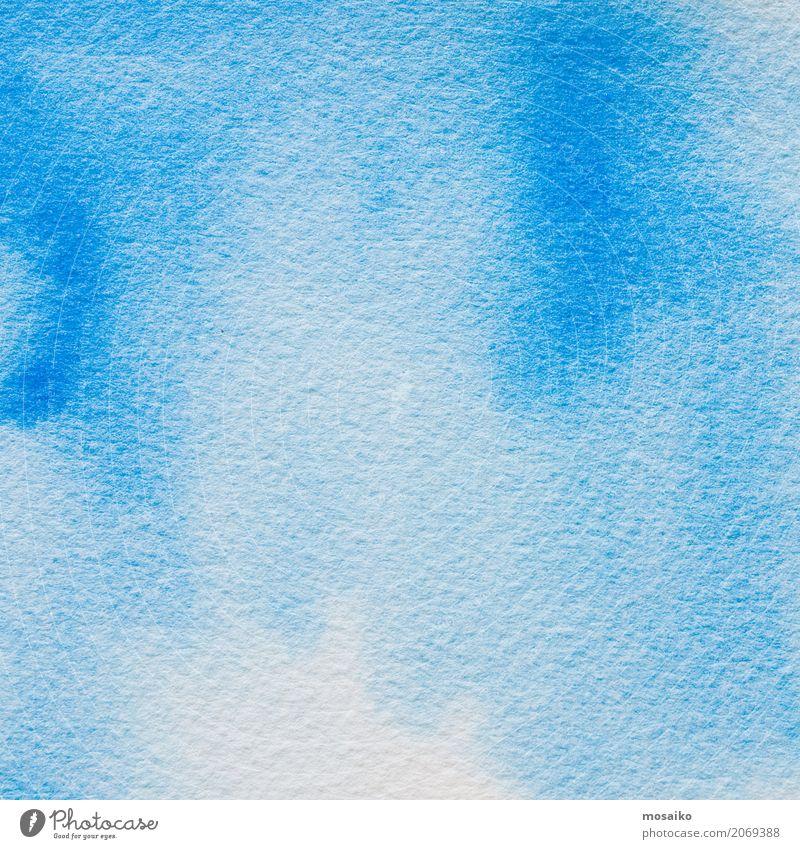 Blaue Wasserfarben Stil Design Bildung Kindergarten Kunst Maler Freundlichkeit natürlich positiv blau Erholung Hoffnung Idee Inspiration Optimismus Wellness