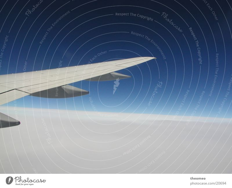 Der Flug Himmel Flugzeug Luftverkehr Tragfläche