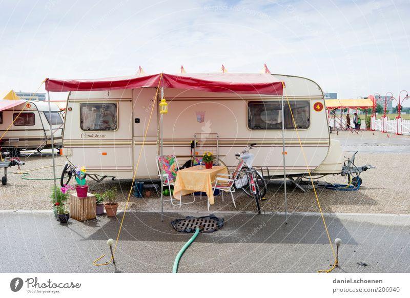 Grandessa 430 (FR 6/10) weiß blau rot Leben grau Perspektive retro Häusliches Leben Mobilität Camping Zirkus Selbstständigkeit Wohnwagen