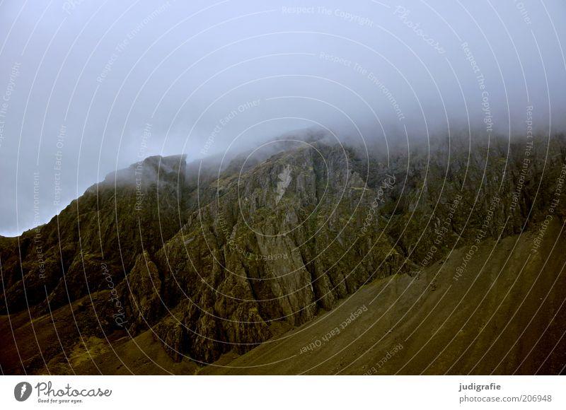 Island Natur Himmel Wolken dunkel Berge u. Gebirge Landschaft Stimmung Nebel Umwelt Felsen bedrohlich Klima wild geheimnisvoll natürlich außergewöhnlich