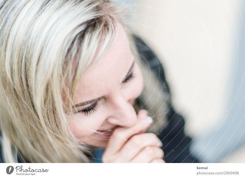 AST10 | Hihi Lifestyle Stil Wellness Leben Wohlgefühl Zufriedenheit Freizeit & Hobby Mensch feminin Frau Erwachsene Gesicht 30-45 Jahre blond langhaarig Lächeln