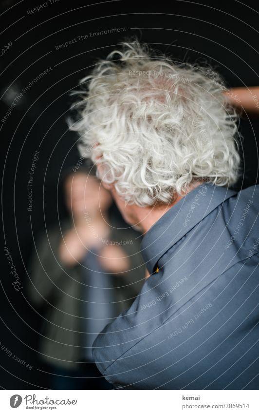 AST10 | Photograph of the photographer Arbeit & Erwerbstätigkeit Beruf Fotograf Mensch maskulin Mann Erwachsene Leben Kopf Haare & Frisuren 2 Hemd weißhaarig