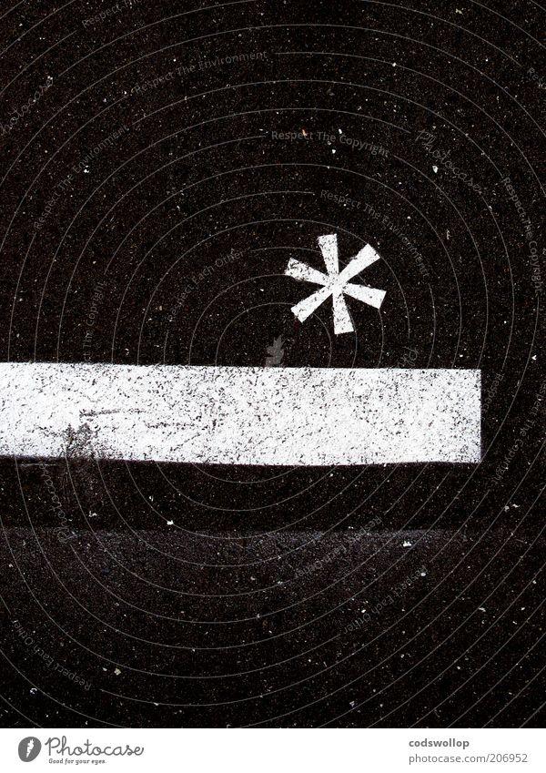 statistical significance Wissenschaften Zeichen ästhetisch schwarz weiß Design einzigartig Weltall Stern (Symbol) Fußnotenzeichen Typographie Schriftwesen