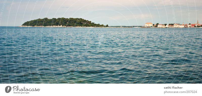 urlaub II Wasser Himmel Wolken Sommer Schönes Wetter Hügel Wellen Küste Meer Insel Porec Kroatien Dorf Stadtrand blau grün Farbfoto Außenaufnahme Tag