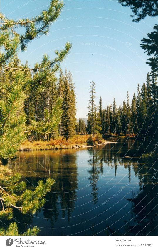 Stille im Herbst Herbst See Idaho