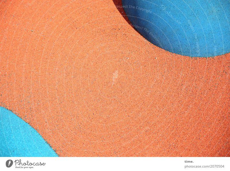 AST 10 | aufgeploppt blau Stadt Farbe Ferne lustig Wege & Pfade Kunst außergewöhnlich orange Design Linie ästhetisch frisch Ordnung Kommunizieren Idee