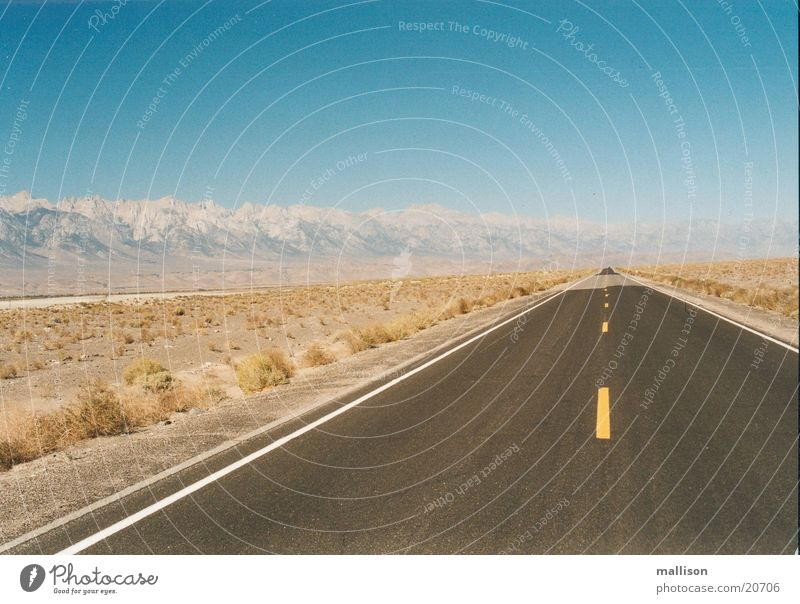 Drive Straße Wärme Physik Death Valley National Park
