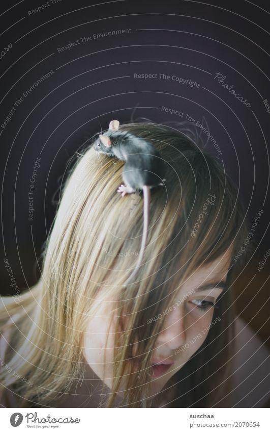 kopfbedeckung Kind Mädchen 13-18 Jahre Jugendliche Kopf Haare & Frisuren Gesicht Maus Schwanz Klettern entdecken Ohr Haustier Nagetiere Angst Ekel