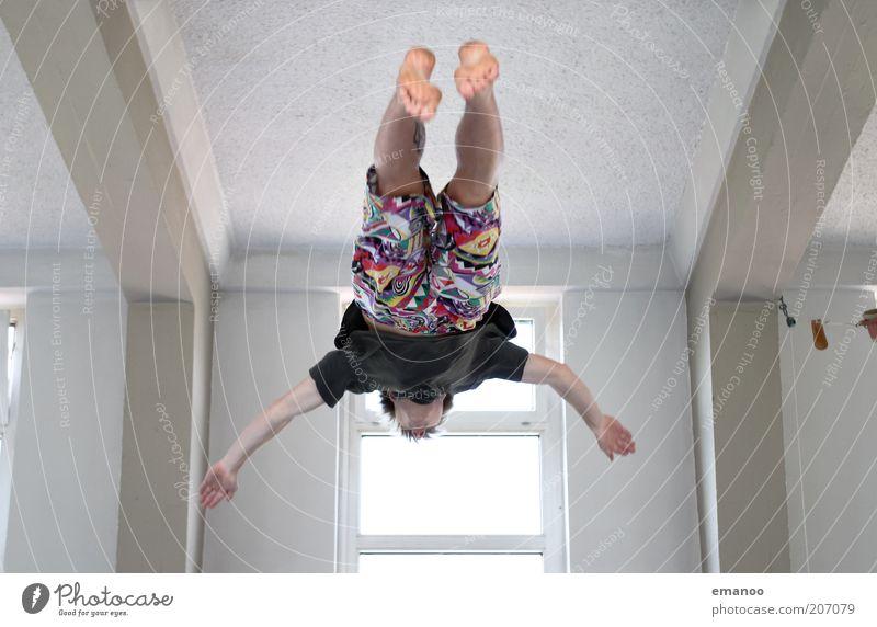 magic trousers Mensch Mann Jugendliche Freude Erwachsene Freiheit Bewegung springen Stil Freizeit & Hobby fliegen maskulin Lifestyle T-Shirt 18-30 Jahre Fitness
