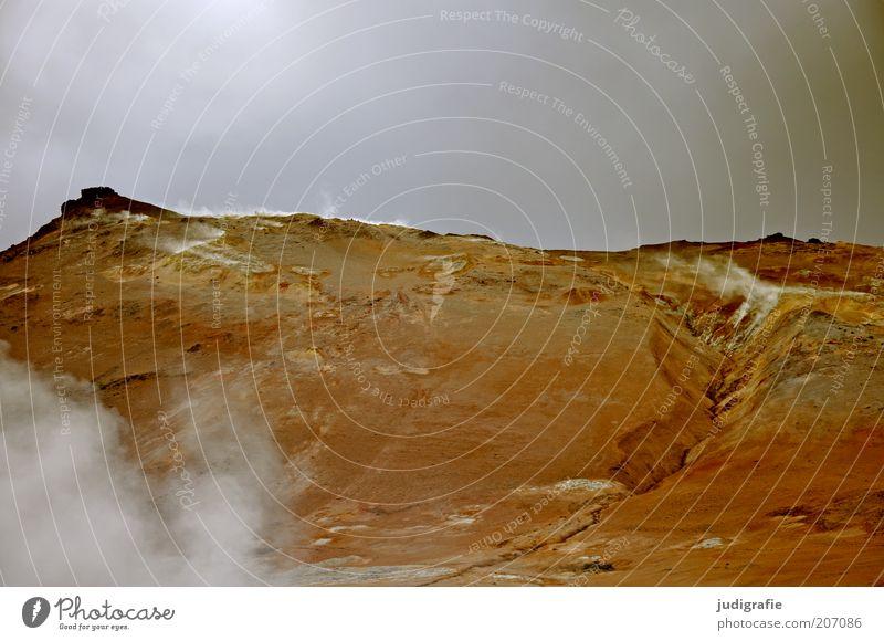 Island Natur Himmel Wolken dunkel Berge u. Gebirge Wärme Landschaft Stimmung Umwelt Klima fantastisch heiß natürlich außergewöhnlich Hügel