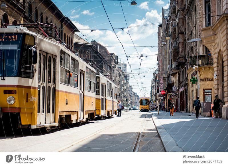 Budapest City: Trams Ferien & Urlaub & Reisen Sommer Sonne Haus Architektur Straße Tourismus Ausflug Verkehr Güterverkehr & Logistik Sommerurlaub Hauptstadt