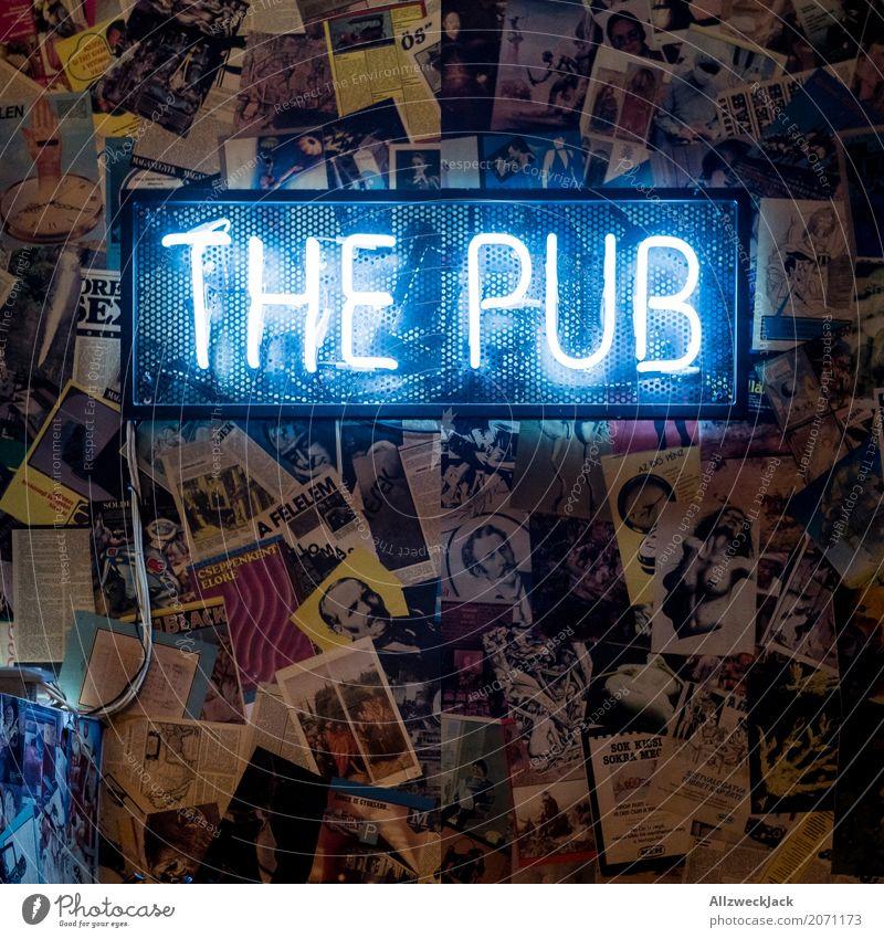 The Pub Stil Lampe Nachtleben Bar Cocktailbar ausgehen Feste & Feiern trinken Schriftzeichen Freundlichkeit trendy genießen Kneipe Leuchtreklame Neonlicht Bier