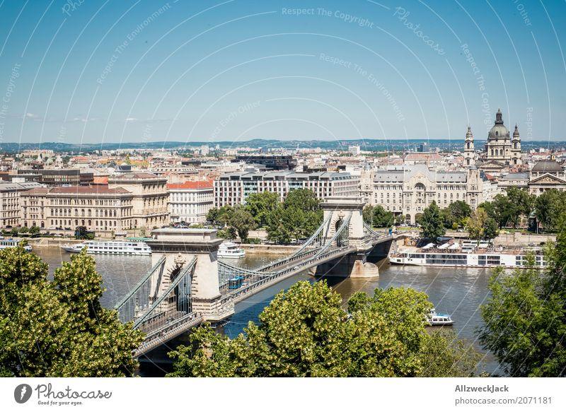 Budapest 3 Ferien & Urlaub & Reisen blau Sommer Stadt Tourismus Wasserfahrzeug Ausflug Verkehr ästhetisch Aussicht Brücke historisch Sehenswürdigkeit