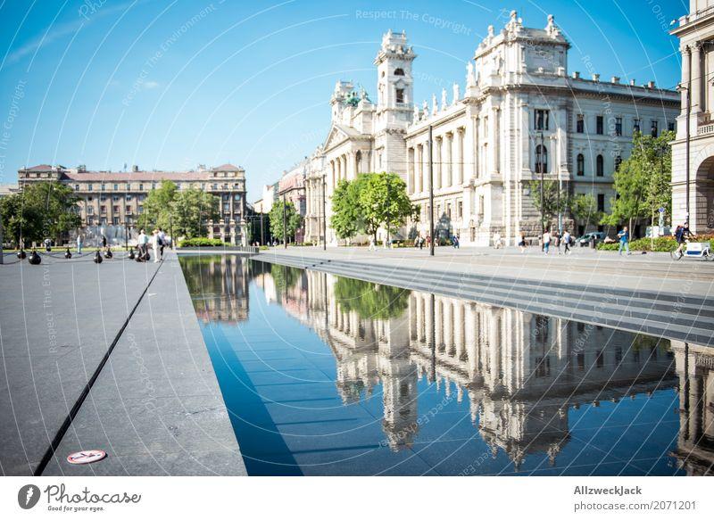 Ethnografisches Museum Budapest 1 Ferien & Urlaub & Reisen Tourismus Ausflug Sightseeing Städtereise Sommerurlaub Ungarn Hauptstadt Stadtzentrum Altstadt Palast