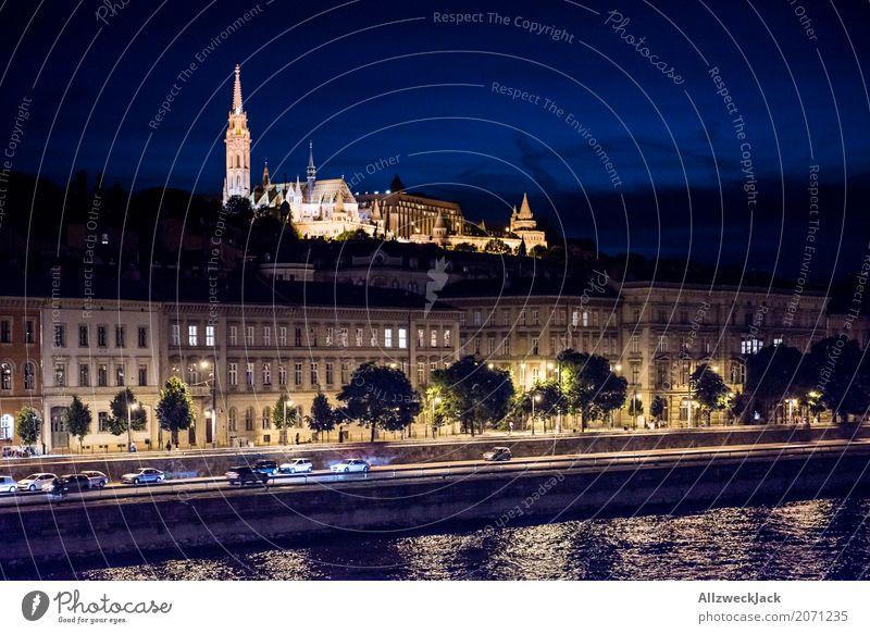 Budapest @ night 2 Ferien & Urlaub & Reisen Straße Tourismus Ausflug ästhetisch Kirche historisch Turm Sehenswürdigkeit Skyline Wahrzeichen Hauptstadt Denkmal