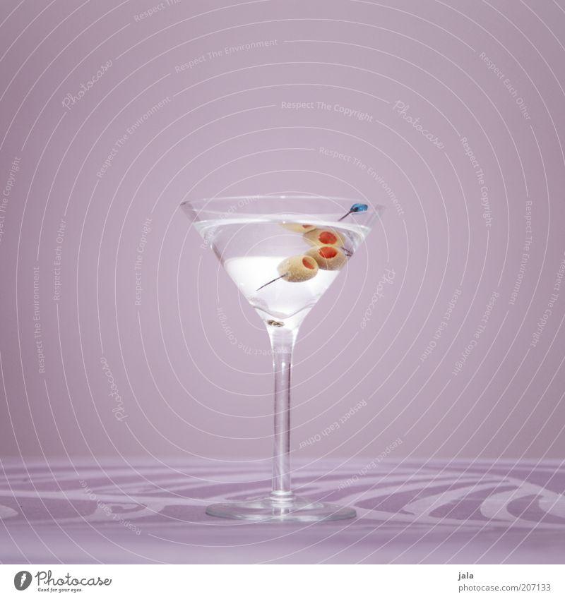 Dry Martini weiß Stil Glas elegant ästhetisch Getränk Lifestyle einfach violett Flüssigkeit Cocktail Alkohol klassisch Oliven steril Lebensmittel