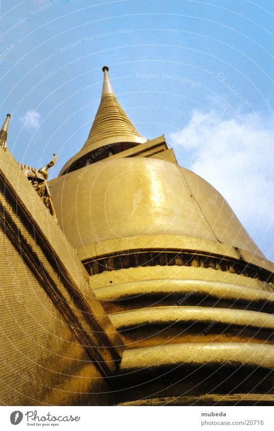 Golden Temple Thailand Tempel Froschperspektive Buddhismus Bangkok Erfolg gold