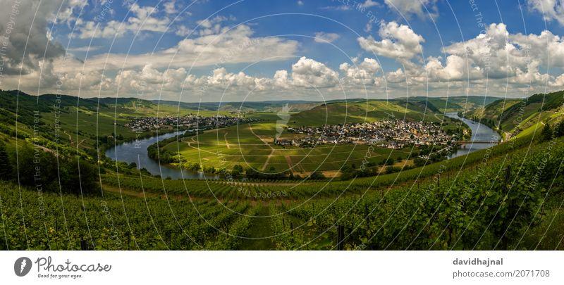 Moselschleife Himmel Natur Ferien & Urlaub & Reisen blau schön grün Wasser Landschaft Tourismus Deutschland Ausflug wandern ästhetisch Europa Schönes Wetter