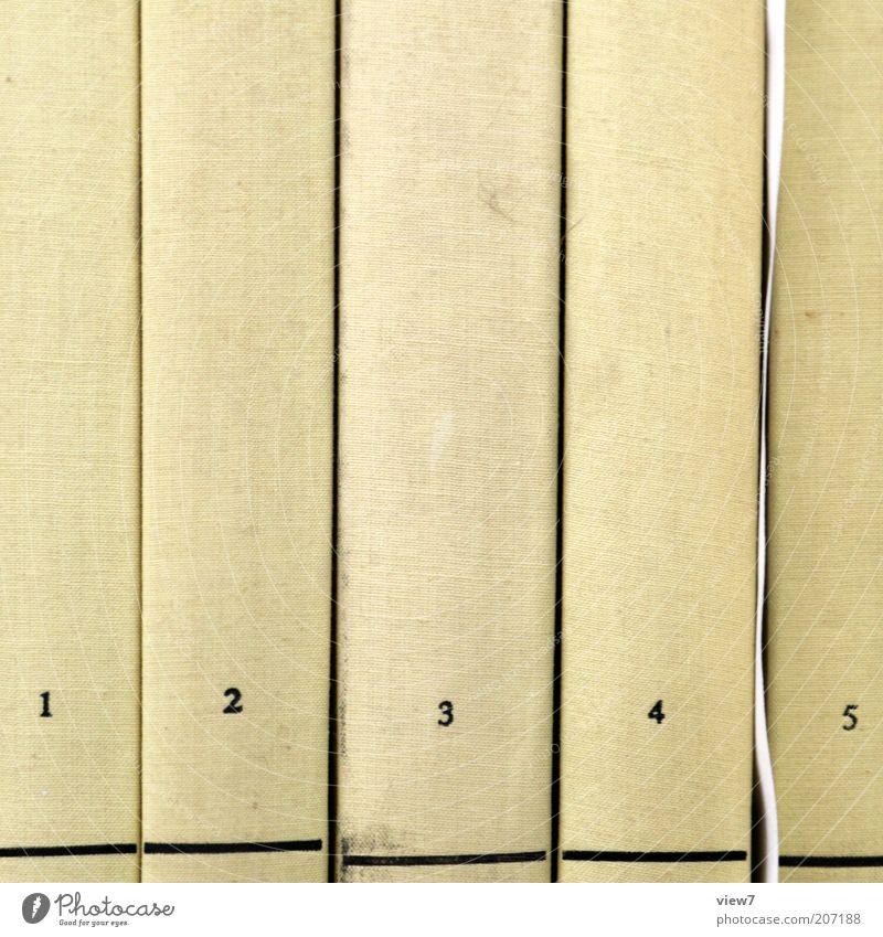 Band alt 1 Linie 2 dreckig Buch 3 Papier authentisch Streifen einfach Ziffern & Zahlen 4 5 Reihe