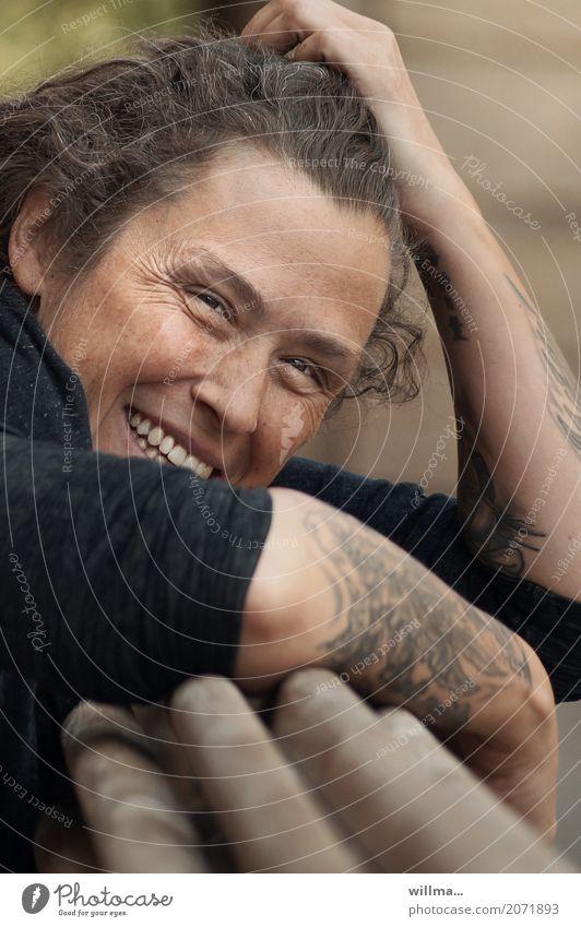 lachfältchen & sommersprossen | AST10 Mensch Frau Jugendliche Junge Frau Freude Gesicht Erwachsene Leben feminin lachen Glück Lächeln Arme Freundlichkeit