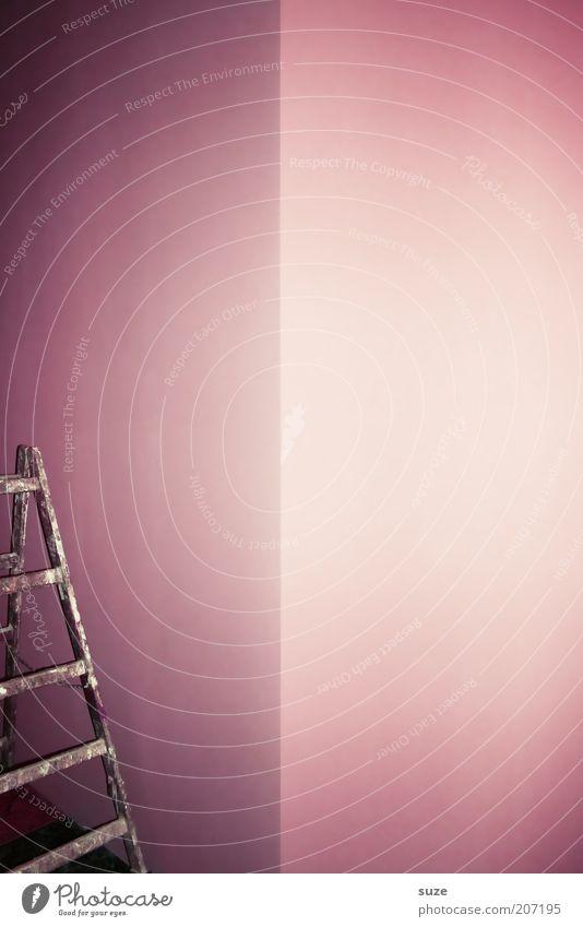Marketingleiter Wand Mauer Innenarchitektur Stil rosa Freizeit & Hobby Wohnung Häusliches Leben Lifestyle Design Ecke neu Umzug (Wohnungswechsel) streichen violett Tapete