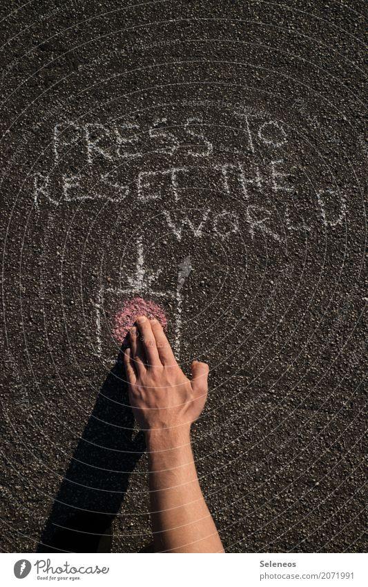 Push Hand Gefühle Schriftzeichen Schilder & Markierungen Arme gefährlich Finger Hinweisschild bedrohlich Zeichen Neugier Zukunftsangst Pfeil Wut Mut Stress