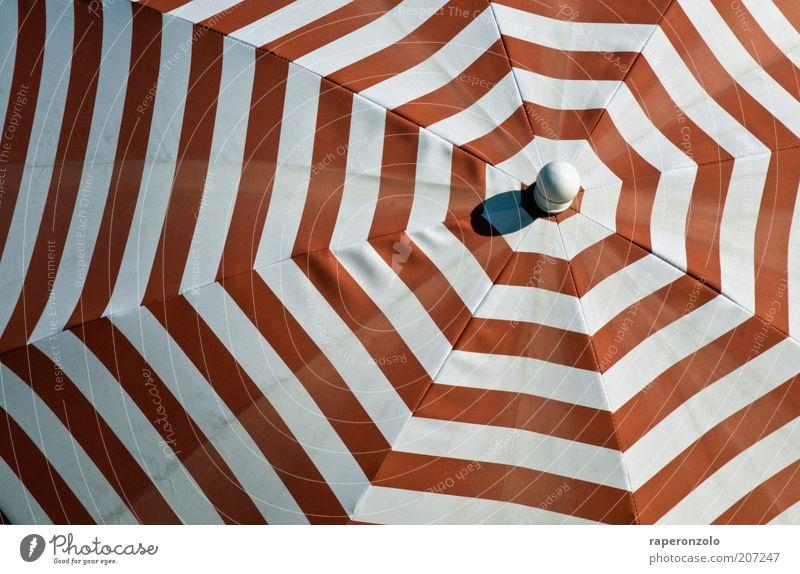 sonne rot-weiß Ferien & Urlaub & Reisen Tourismus Sommer Sommerurlaub Wetter Schönes Wetter Wärme Schutz Sonnenschirm Stoff Stoffmuster Muster konzentrisch