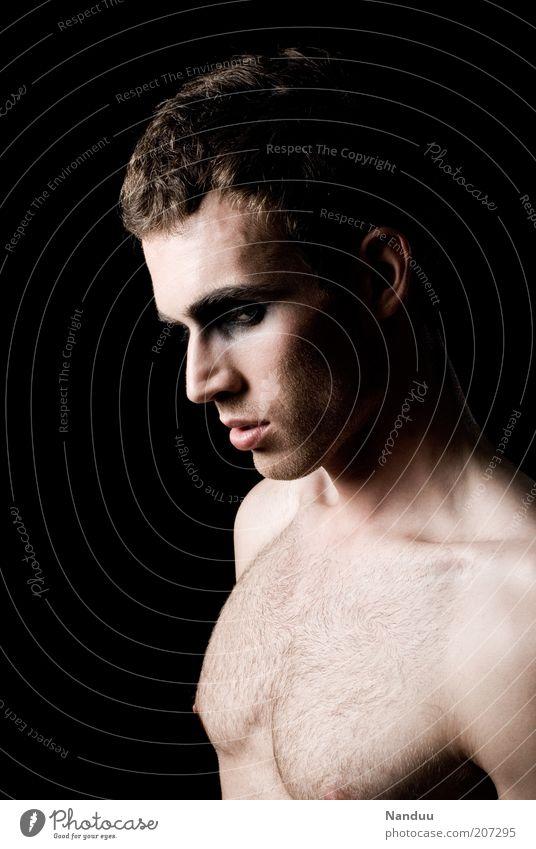 strange. Mensch Jugendliche schön Erwachsene dunkel Stil außergewöhnlich Junger Mann maskulin 18-30 Jahre ästhetisch Lifestyle sportlich Brust Mann Profil