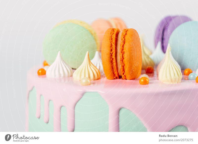 blau Farbe grün weiß Essen gelb Lebensmittel Feste & Feiern rosa orange Ernährung retro Geburtstag süß rund violett