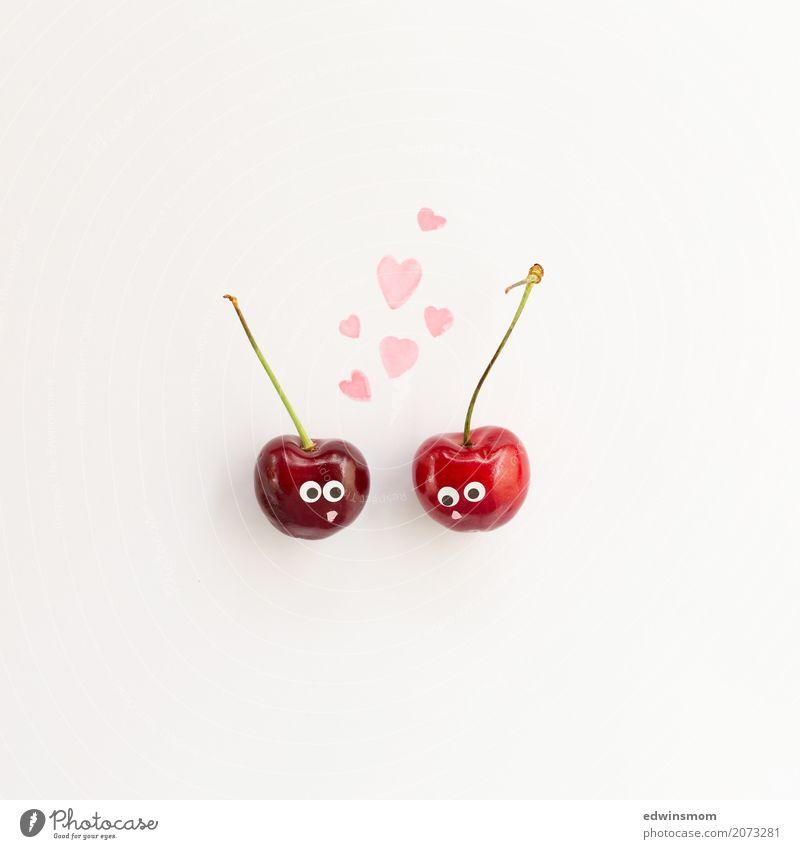 Cherrie Love Frucht Kirsche Freizeit & Hobby Basteln Sommer Valentinstag Papier Dekoration & Verzierung Kitsch Krimskrams Herz Küssen Liebe Blick leuchten