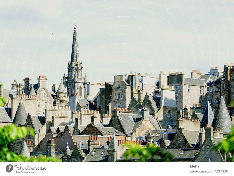 Über den Dächern von Schottland (2) schön alt Stadt Haus Gebäude Architektur Europa Kirche Dach Skyline Bauwerk historisch Gesellschaft (Soziologie)