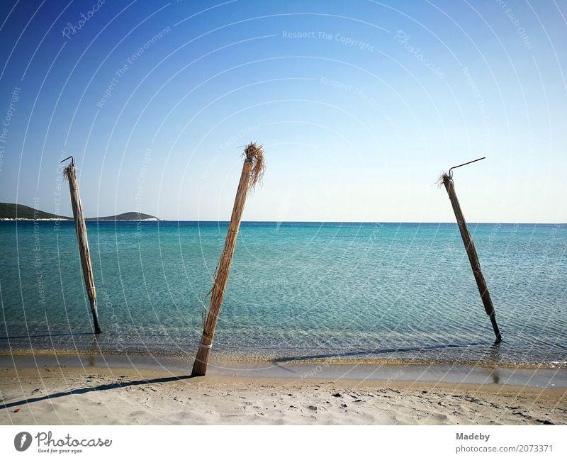 Strand in der Bucht von Alacati bei Izmir in der Türkei Natur Ferien & Urlaub & Reisen blau Sommer Wasser Sonne Landschaft Meer Erholung Ferne Küste Freiheit
