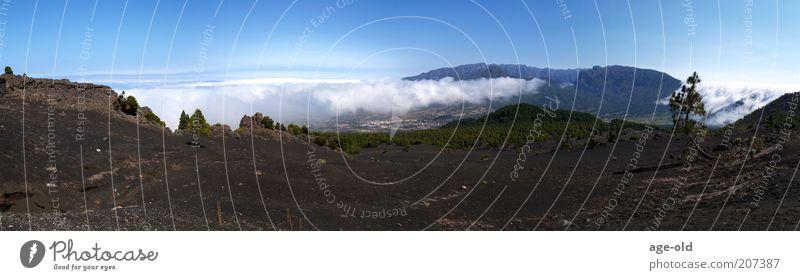 Lavalandschaft auf La Palma Natur Landschaft Sonnenlicht Wärme Berge u. Gebirge Vulkan Erholung ästhetisch außergewöhnlich blau braun grau grün weiß Kraft