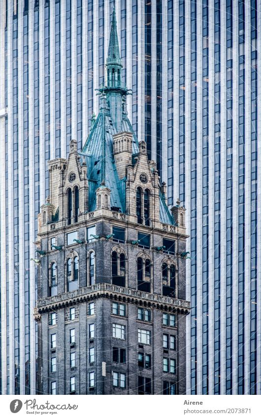 Kitsch | mehr stille Einfalt als edle Größe Sightseeing Städtereise New York City Manhattan Stadtzentrum Hochhaus Turm Bauwerk Architektur Fassade Dach
