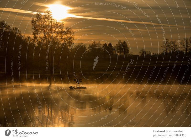 The Day After Tomorrow Wasser Sonnenaufgang Sonnenuntergang Klimawandel Nebel Seeufer fantastisch Gefühle Stimmung Frieden Idylle Natur Galerie Farbfoto