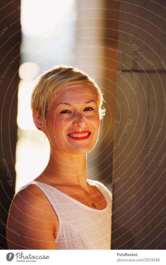 #A# Morning Smile Mensch 1 elegant Frau Frauengesicht Lächeln lachen Glück Zufriedenheit Freundlichkeit Willkommen Dienstleistungsgewerbe Karriere Säule