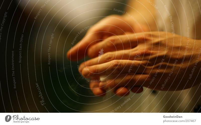 Sei aber vorsichtig! Mensch maskulin Hand festhalten Stimmung achtsam Farbfoto Innenaufnahme Tag Schwache Tiefenschärfe Zentralperspektive Männerhand