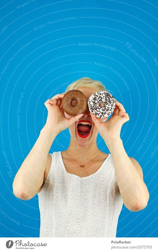 #A# wie jetzt Frau Jugendliche blau Freude Lifestyle Kunst Ernährung ästhetisch verrückt Jugendkultur Brille lecker schreien Schokolade Alkoholisiert Kunstwerk