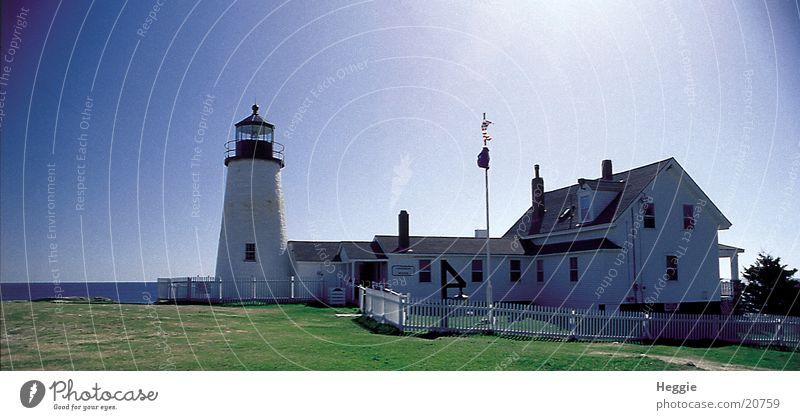 Leuchtturm Leuchtturm Blauer Himmel Nordamerika Maine Neuengland