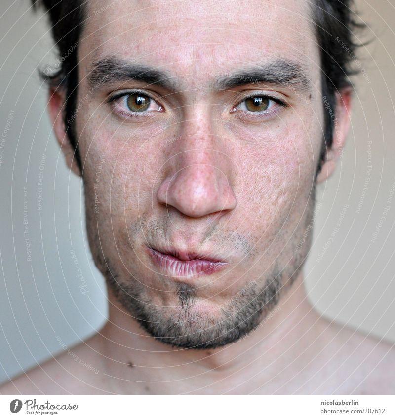 Montags Portrait 03 Jugendliche schön Gesicht Auge Leben Gefühle Denken Haut Erwachsene maskulin einzigartig Wut natürlich außergewöhnlich