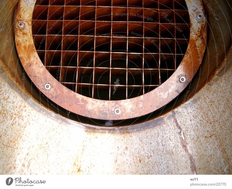 Watersplash Gitter Industrie Stahl Rost Triebwerke Wasserrohr
