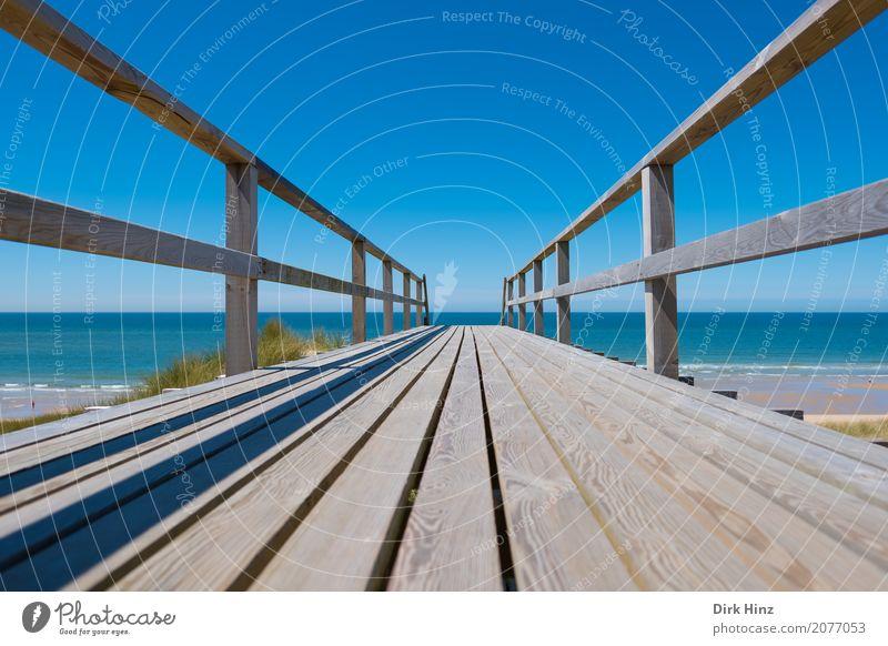 Auf der Zielgeraden Natur Ferien & Urlaub & Reisen blau Wasser Sonne Meer Erholung Ferne Strand Wege & Pfade Küste Freiheit Tourismus Ausflug Wellen Insel