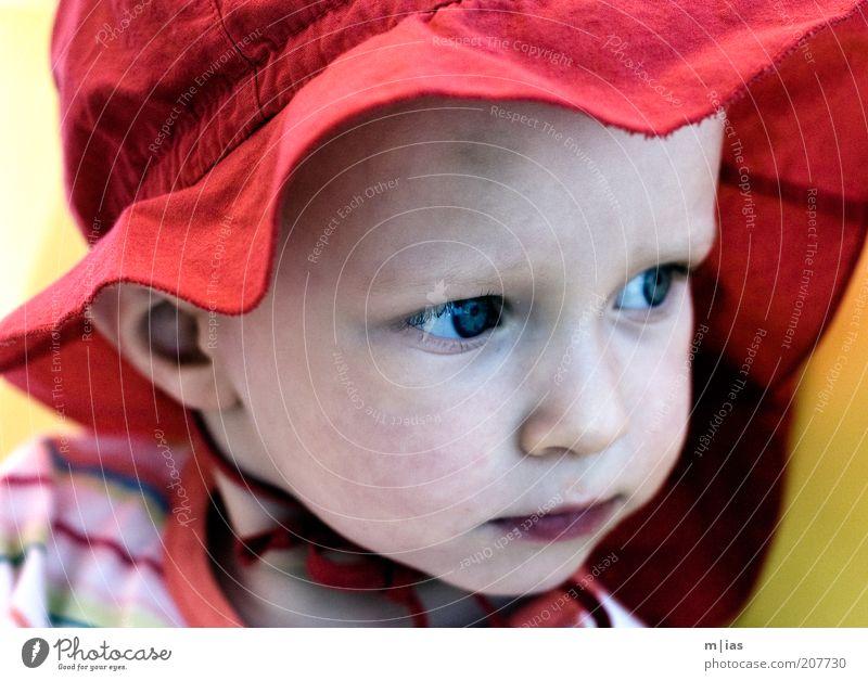 an deiner Seite. Mensch Kind Mädchen rot Sommer Gesicht ruhig Leben Zufriedenheit Vertrauen Lebensfreude Gelassenheit Neugier Kindheit Hut Mütze