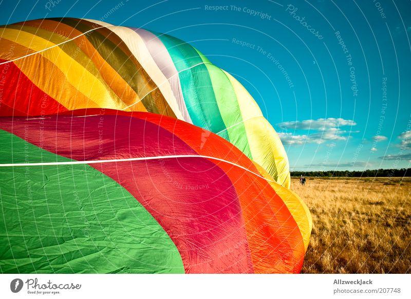 Luftnummer Mann Sommer Erwachsene Umwelt Landschaft Freizeit & Hobby maskulin Abenteuer Ballone Ballonfahrt