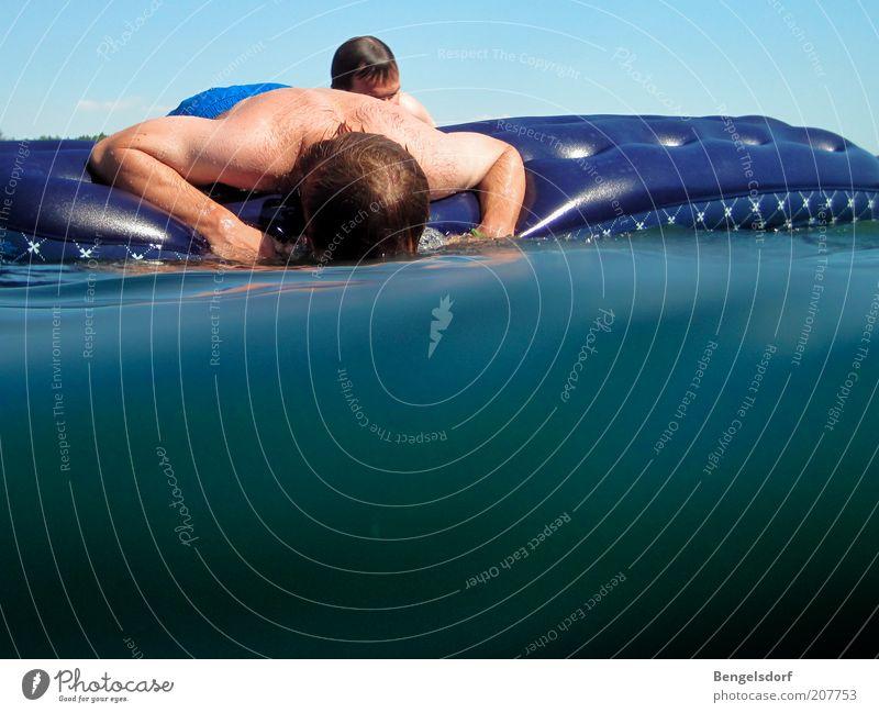 abtauchen Mensch Jugendliche Wasser Sonne Meer Sommer Ferien & Urlaub & Reisen ruhig Leben Erholung Spielen See Rücken Ausflug