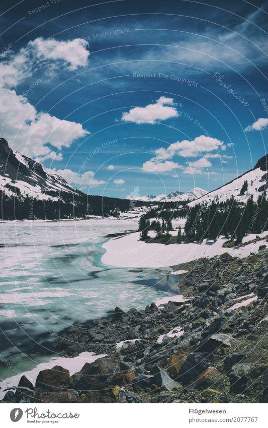 Yosemite Ferien & Urlaub & Reisen Tourismus Ausflug Winter Schnee Winterurlaub Berge u. Gebirge wandern Umwelt Natur Landschaft Himmel Wolken Klima Klimawandel