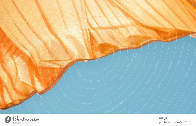Sonnenschutz2 blau Sommer Luft orange Sicherheit Stoff Schönes Wetter Schutz Sonnenschirm Wolkenloser Himmel Anschnitt Wetterschutz UV-Strahlung mehrfarbig