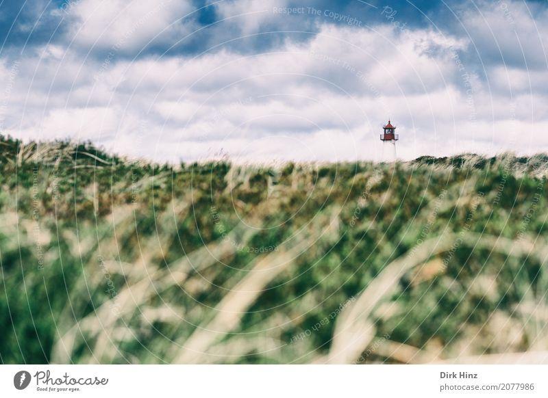 Der Leuchtturm List (West) II Natur Meer Erholung Wolken Ferne Umwelt Gras Freiheit Tourismus Horizont Insel Hilfsbereitschaft Sicherheit Richtung Tradition